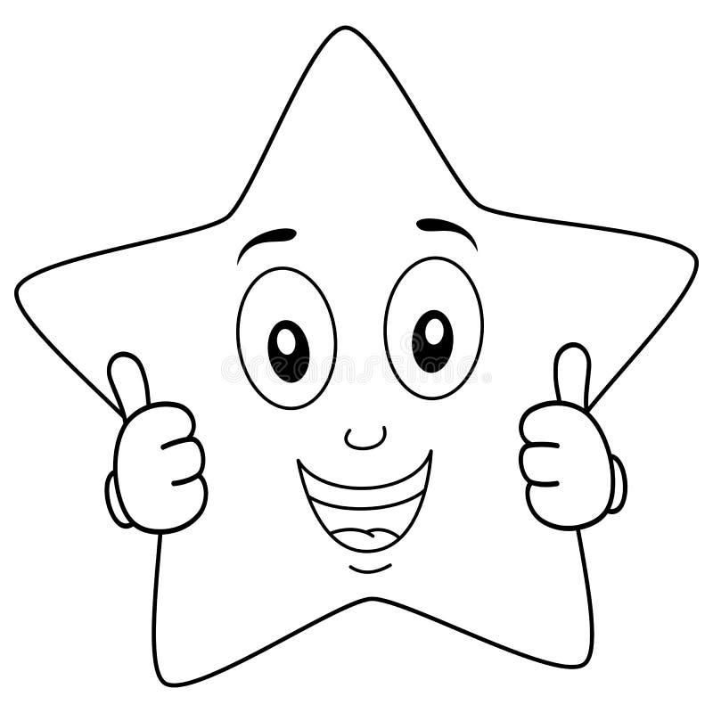El Carácter Brillante De La Estrella Que Colorea Manosea Con Los