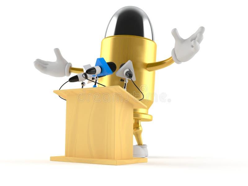El carácter de la bala da una presentación stock de ilustración