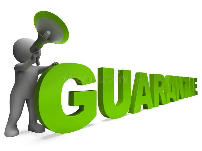 El carácter de la garantía muestra la persona en favor de la cual se establece una garantía garantizada o garantías ilustración del vector