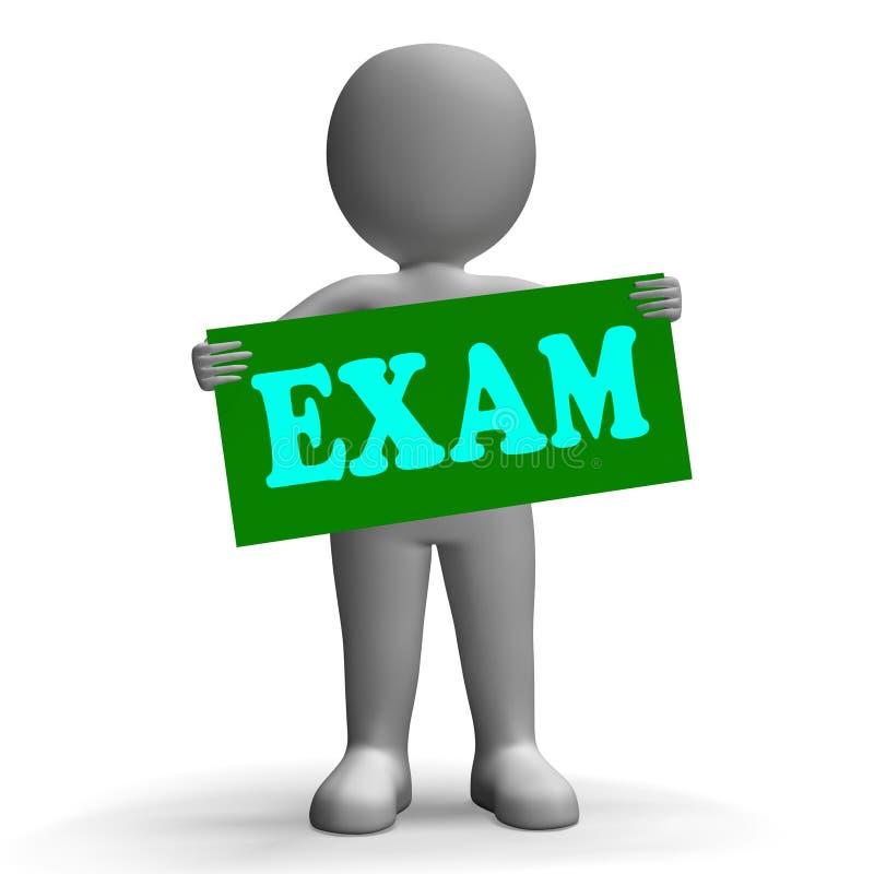 El carácter de signo del examen significa exámenes y stock de ilustración