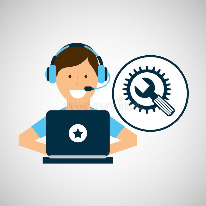 El carácter del programador equipa el desarrollo libre illustration