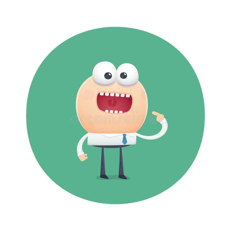 El carácter divertido pide hambriento para comer ilustración del vector