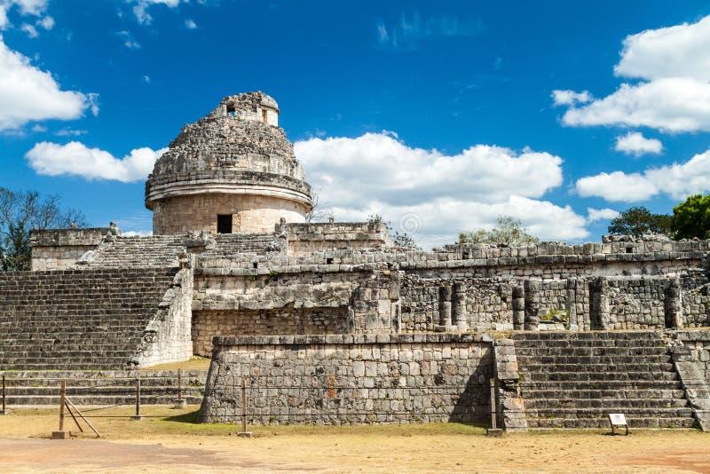 El Caracol, обсерватория в старом майяском городе Chichen Itza, Mexi стоковое изображение
