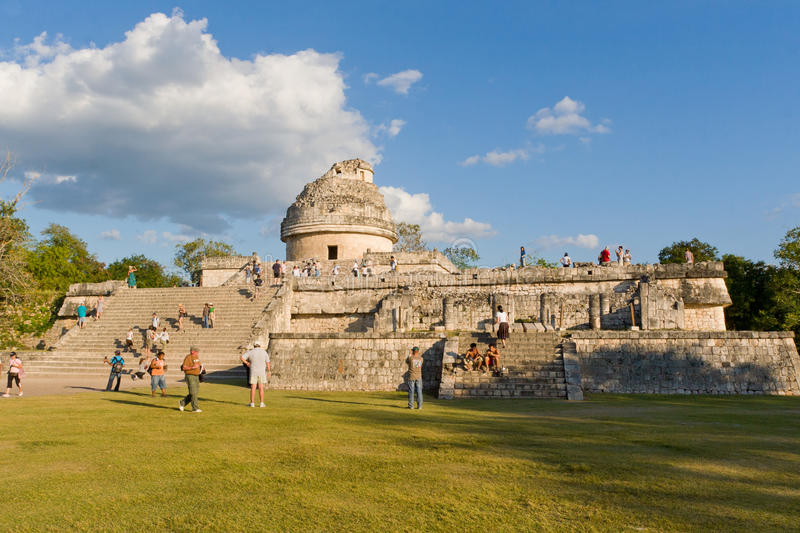 El Caracol is ancient Maya observatory in archaeological site o stock photo