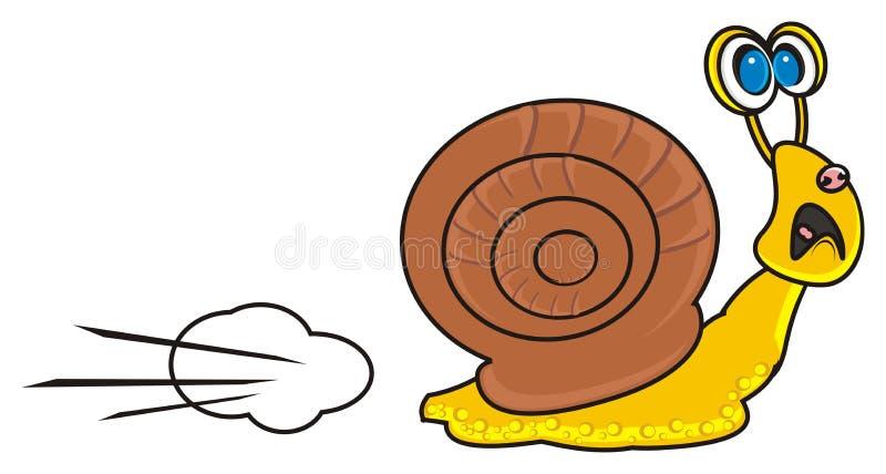 El caracol fue asustado ilustración del vector