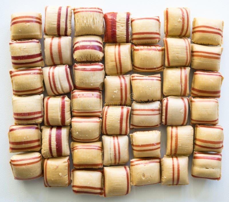 El caramelo rojo del canela de la frente holandesa llamó imagen de archivo
