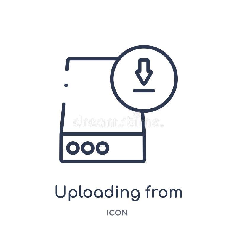 el cargar de icono de la impulsión del icono de la impulsión de la colección del esquema de la interfaz de usuario Línea fina que libre illustration