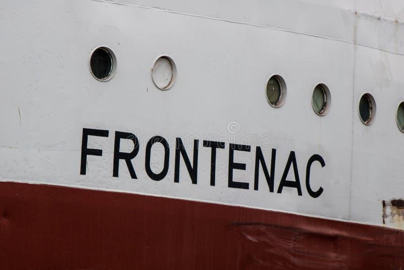 El carguero de Great Lakes nombró Frontenac fotos de archivo libres de regalías