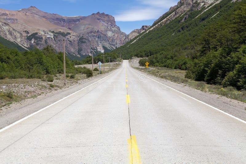 El Carretera austral, Chile imagen de archivo