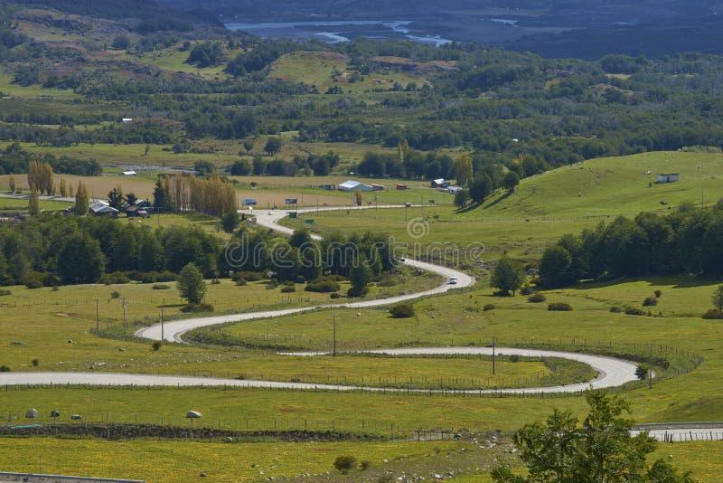 El Carretera austral en la Patagonia septentrional, Chile imagen de archivo libre de regalías