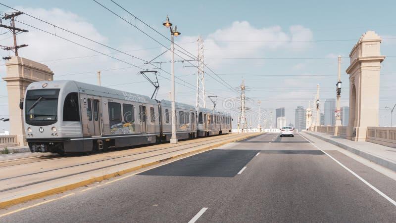 El carril del metro de Los Ángeles fotos de archivo