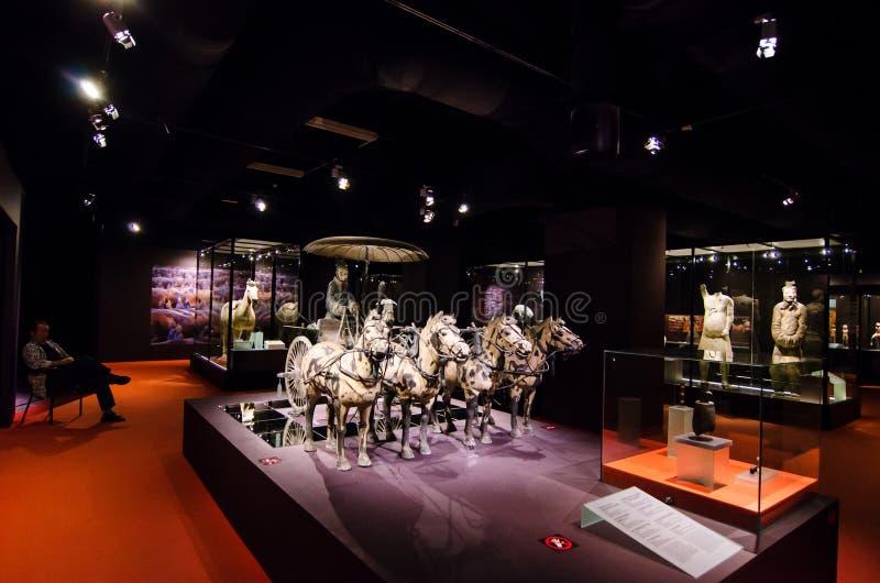 El carro de bronce del primer emperador de Qin Dynasty imagen de archivo libre de regalías