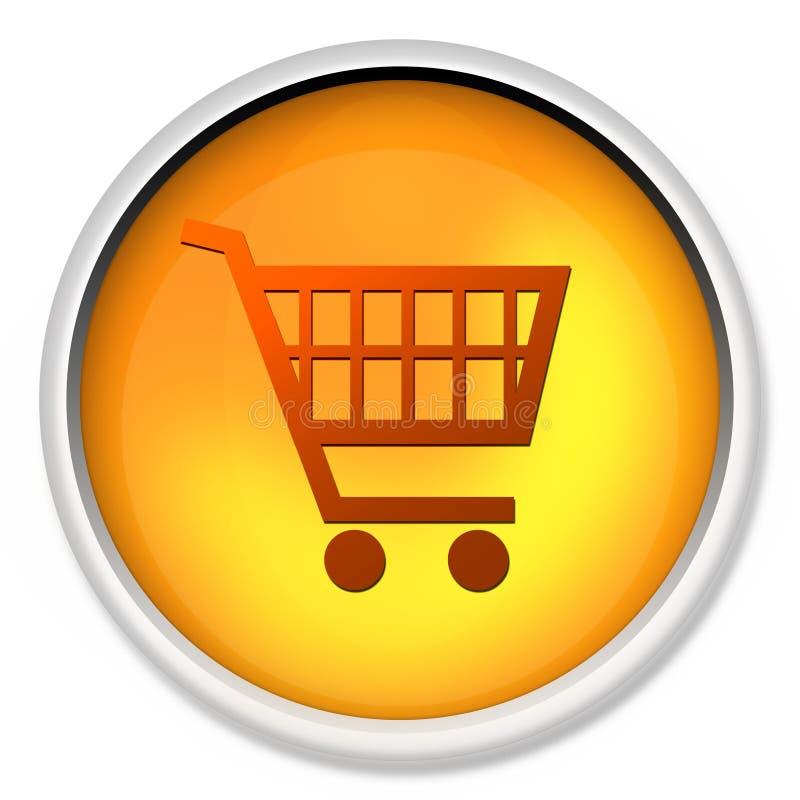 El carro de compras, botón, icono, icono del Web, e-compra, botón del Web