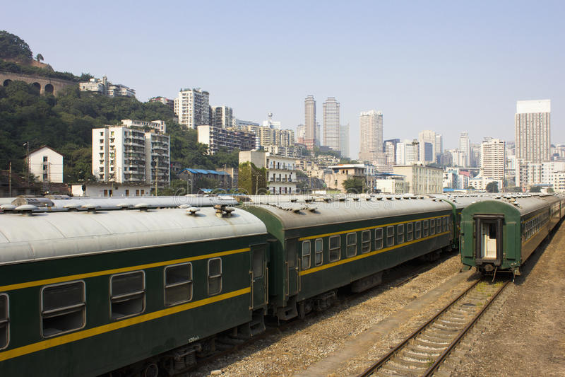 El carro de un tren fotos de archivo