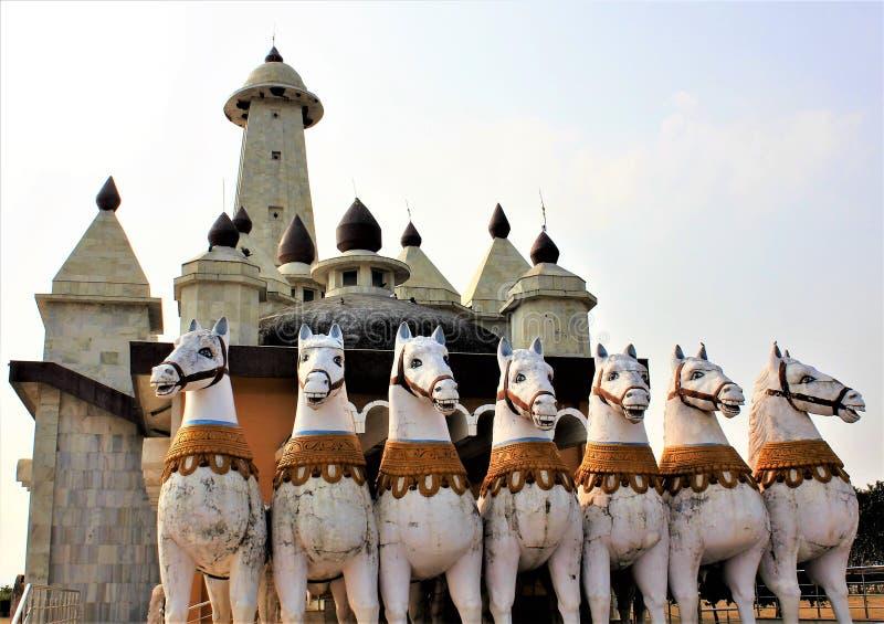 El carro del Sun fuera de un templo de Sun en Ranchi la India imagen de archivo libre de regalías