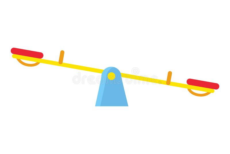 El carrusel de arriba a abajo para dos niños en blanco se instala ilustración del vector