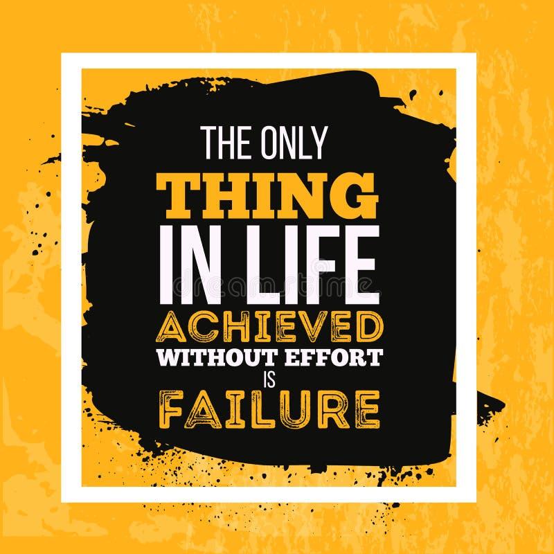 El cartel de motivación de la cita sobre éxito para tener éxito su deseo para el éxito debe ser mayor que su miedo de libre illustration