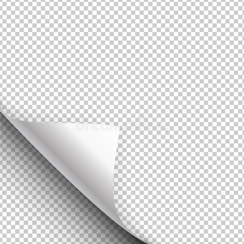 El cartel de papel cuelga con para arriba envuelta una esquina Ilustración del vector libre illustration