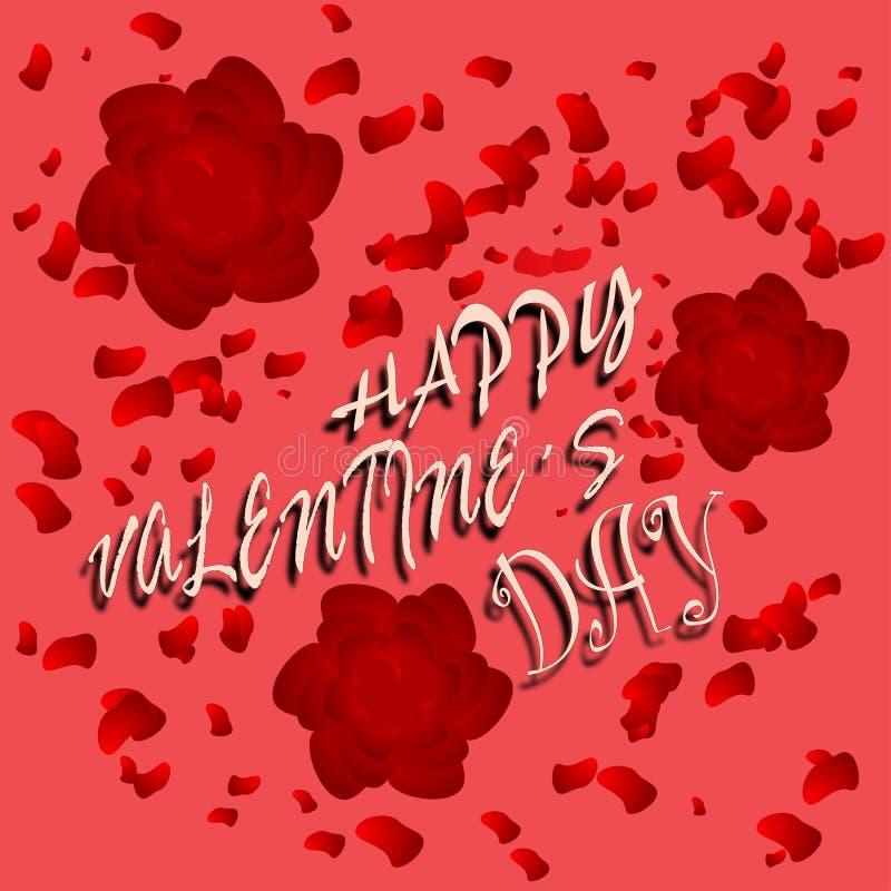 El cartel de Valentinefeliz fotografía de archivo libre de regalías