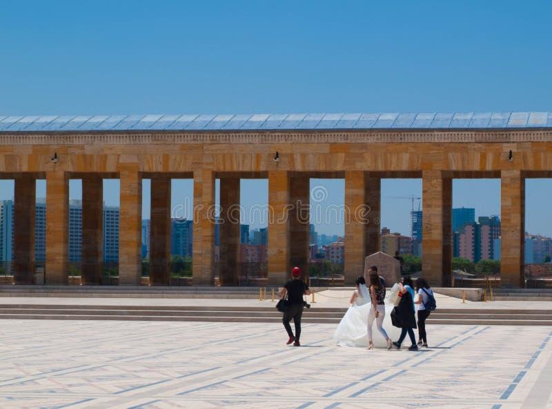 El casarse en AnitKabir imagen de archivo