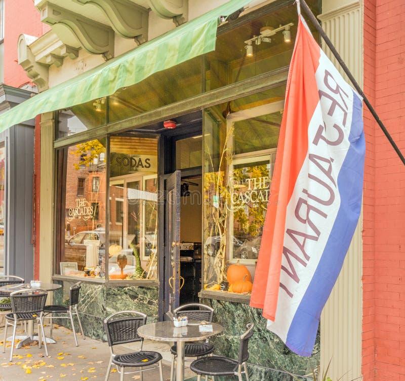 El Cascades Deli y el restaurante imagenes de archivo
