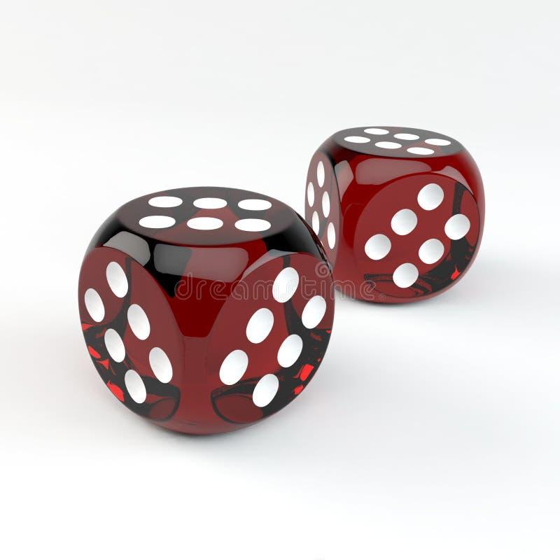 El casino afortunado corta en cuadritos fotografía de archivo