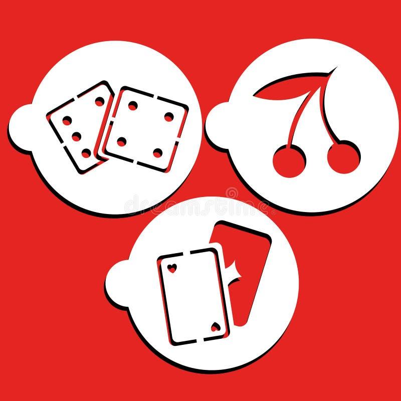 El casino estarce arte stock de ilustración