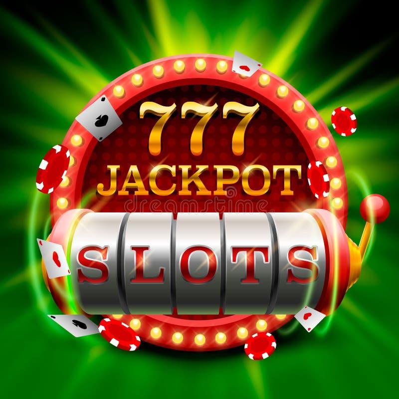 El casino ranura el letrero del bote 777 ilustración del vector