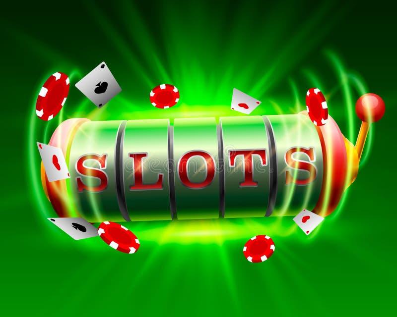 El casino ranura el letrero del bote 777 stock de ilustración