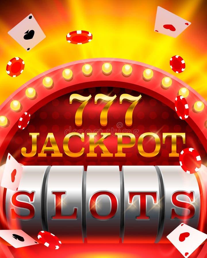 El casino ranura el letrero del bote 777 libre illustration