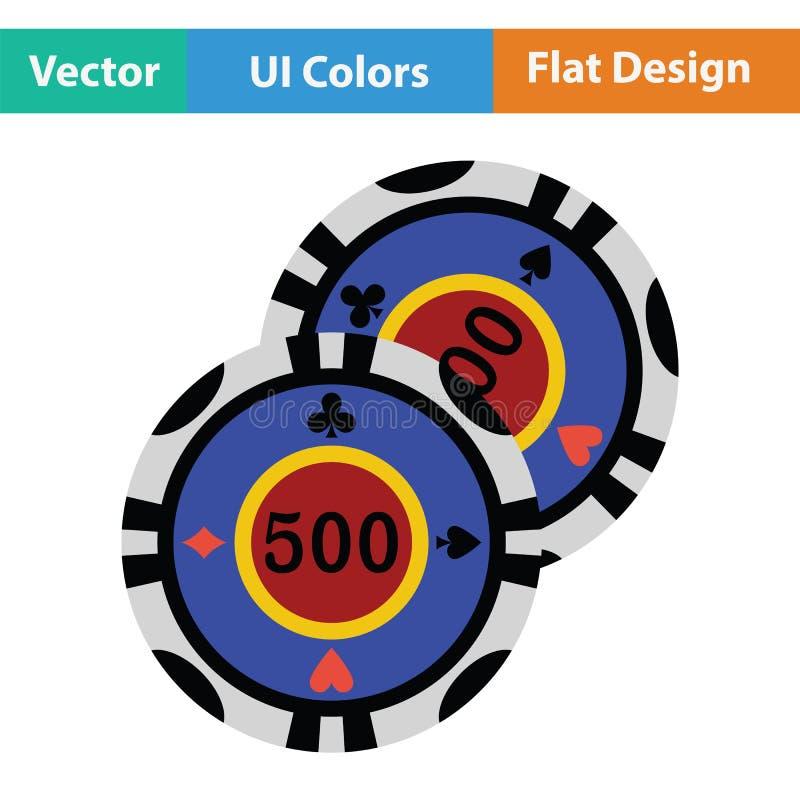 El casino salta el icono ilustración del vector