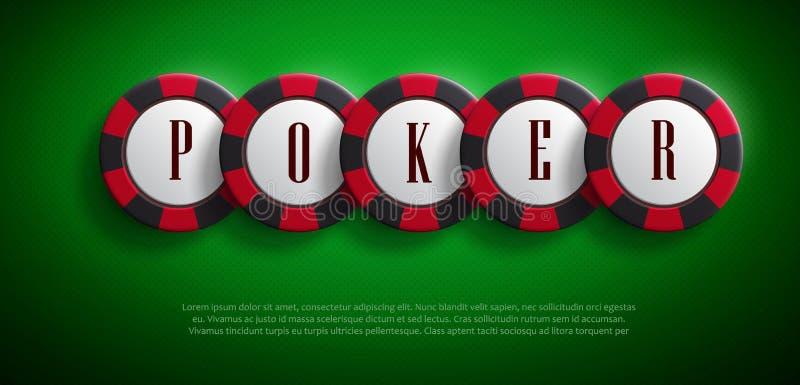 El casino salta la visión superior con las sombras stock de ilustración