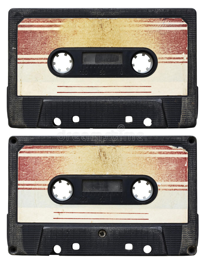 El cassette audio aisló foto de archivo libre de regalías