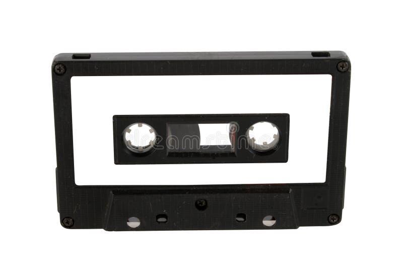 El cassette audio y la escritura de la etiqueta aislaron fotografía de archivo