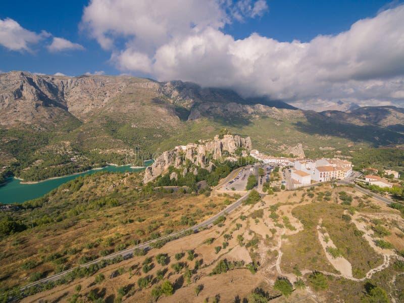 El Castell de Guadalest. Spain, Costa Blanca royalty free stock photography