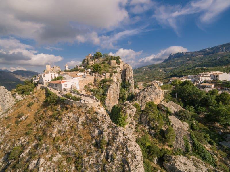 El Castell de Guadalest. Spain, Costa Blanca stock images