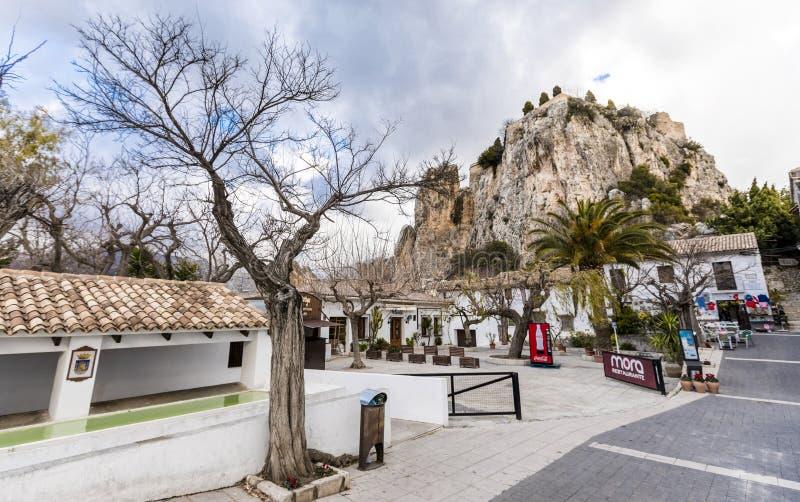 EL Castell de Guadalest España fotos de archivo