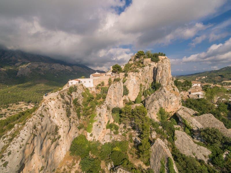 El Castell de Guadalest. Spain, Costa Blanca stock photo