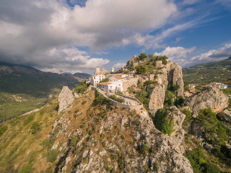 Download El Castell de Guadalest stock photo. Image of cloud, castle - 99254264