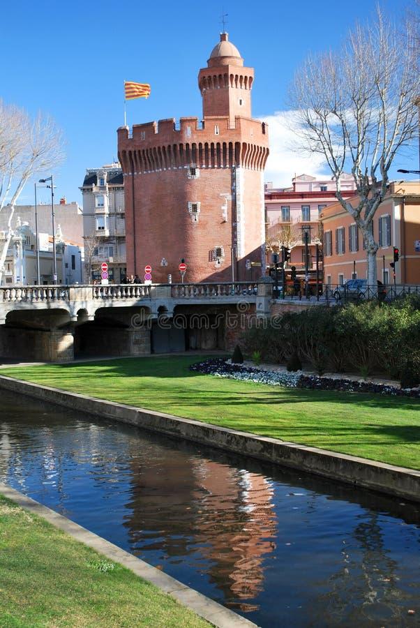 El Castillet en Perpignan fotografía de archivo libre de regalías