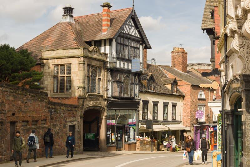 El castillo bloquea Shrewsbury fotos de archivo libres de regalías