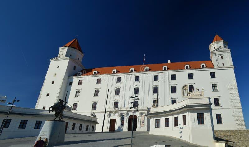 El castillo, Bratislava Eslovaquia foto de archivo