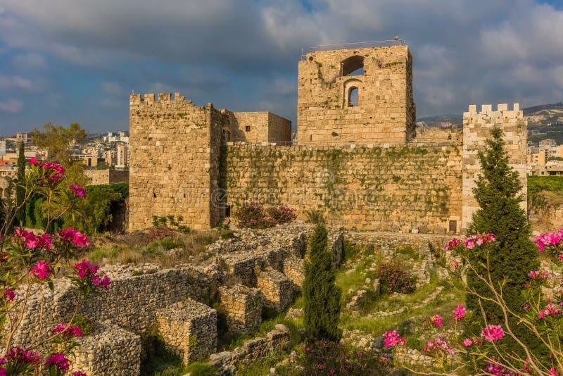 El castillo Byblos Jbeil Líbano del cruzado foto de archivo libre de regalías