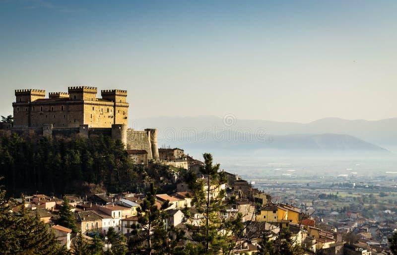 El castillo de Celano imágenes de archivo libres de regalías