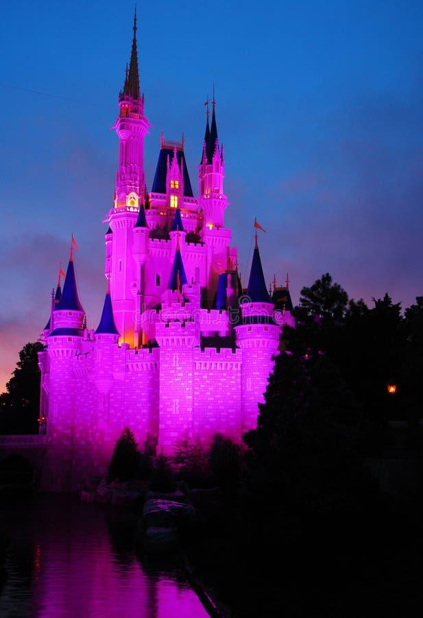 El castillo de Cenicienta en el reino mágico imágenes de archivo libres de regalías