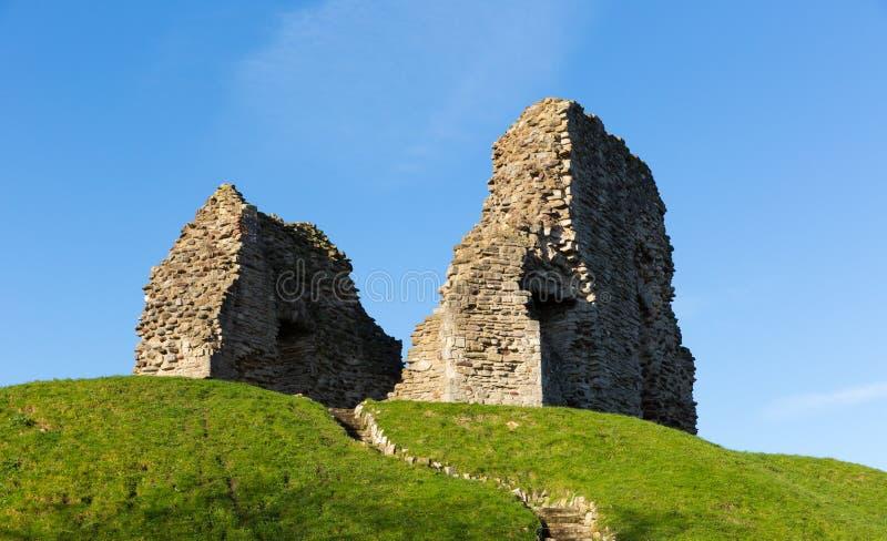 El castillo de Christchurch arruina Dorset Inglaterra Reino Unido del origen normando imagen de archivo