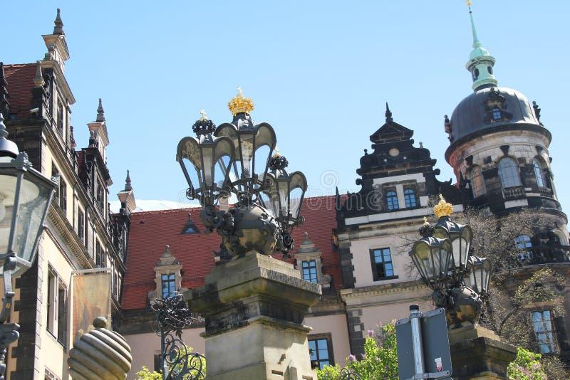 El castillo de Dresden imagenes de archivo