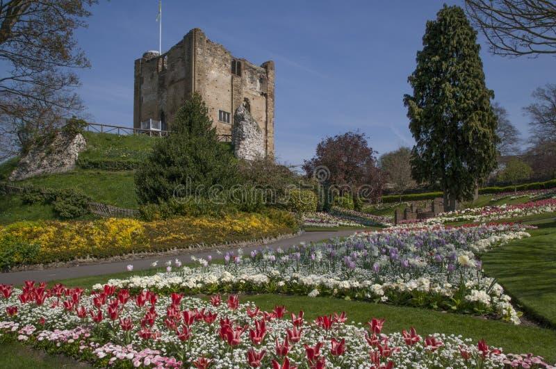 El castillo de Guildford guarda y los argumentos, Surrey Inglaterra foto de archivo