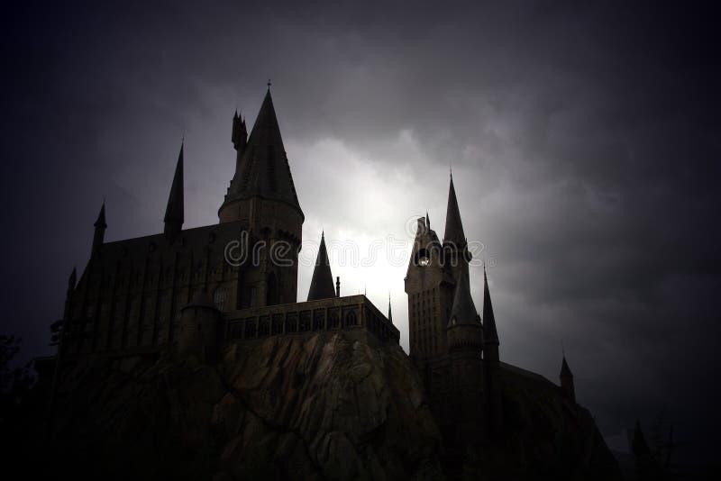 El castillo de Harry Potter imagen de archivo libre de regalías