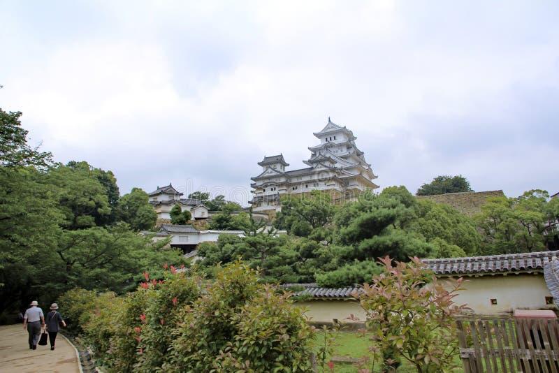 El castillo de Himeji, película de Hollywood, samurai pasado fue filmado aquí fotos de archivo libres de regalías